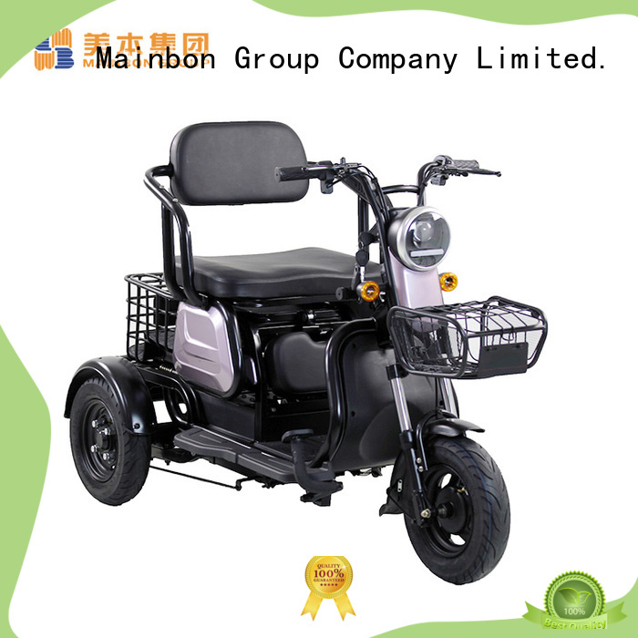 Mainbon powered 3 wheel electric bicycle suppliers for adults