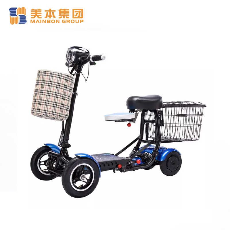 New Electric Tricycle  for Disabled Adult 4 Wheel Double Seat Foldable