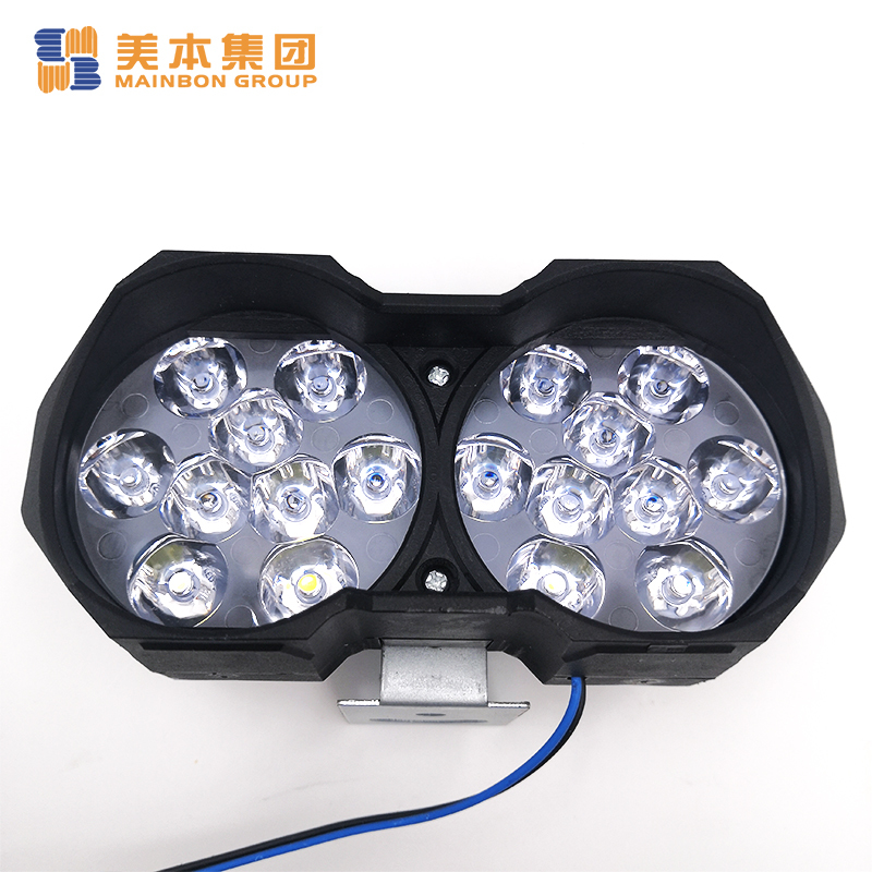 Electric Trike Parts Blackplastic Housing Double Spot Led Headlight