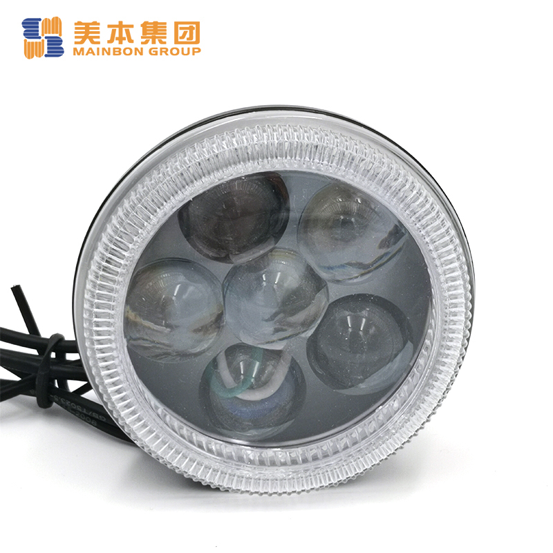Custom Tricycle Parts 6 Led Front Fog Light with Halo Ring
