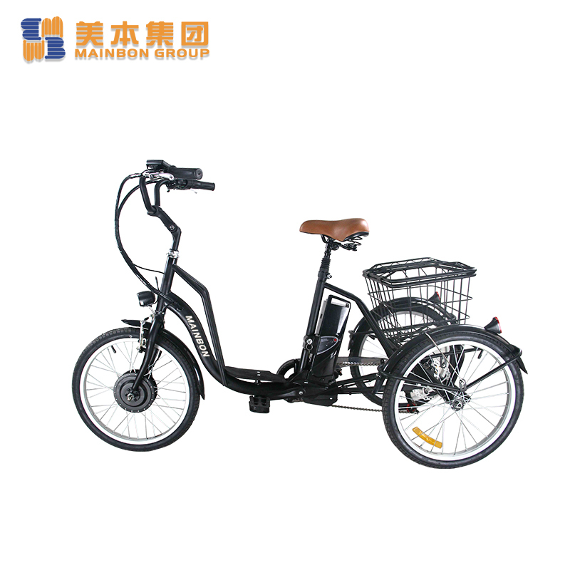 Electric Powered Tricycle 3-wheeler 20 Inch with Basket