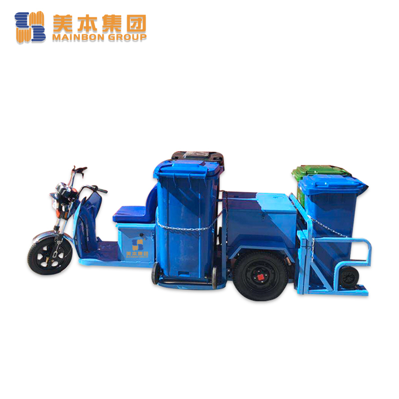 Electric Tricycle Three Wheel Trash Collection Tricycle for Public Cleaning Services