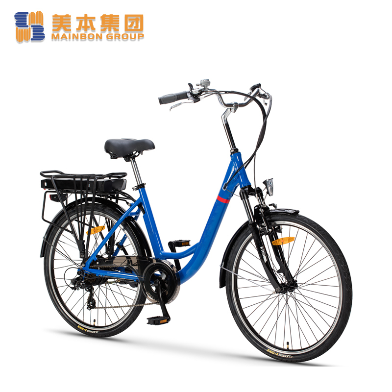 Best Electric Bicycle Lady Electric Bike 26 Inch with Rack Battery