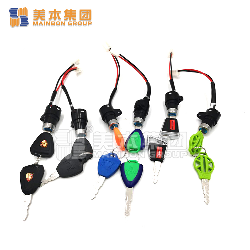 Electric Tricycle Parts Motorcycle Power Lock Ignition Key Power Key
