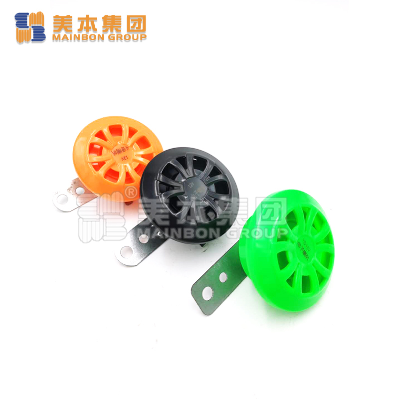 Electric Bicycle Accessaries Plastic Single Horn With 4 Music Horn